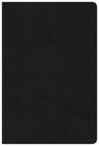 CSB Disciple's Study Bible, Black LeatherTouch