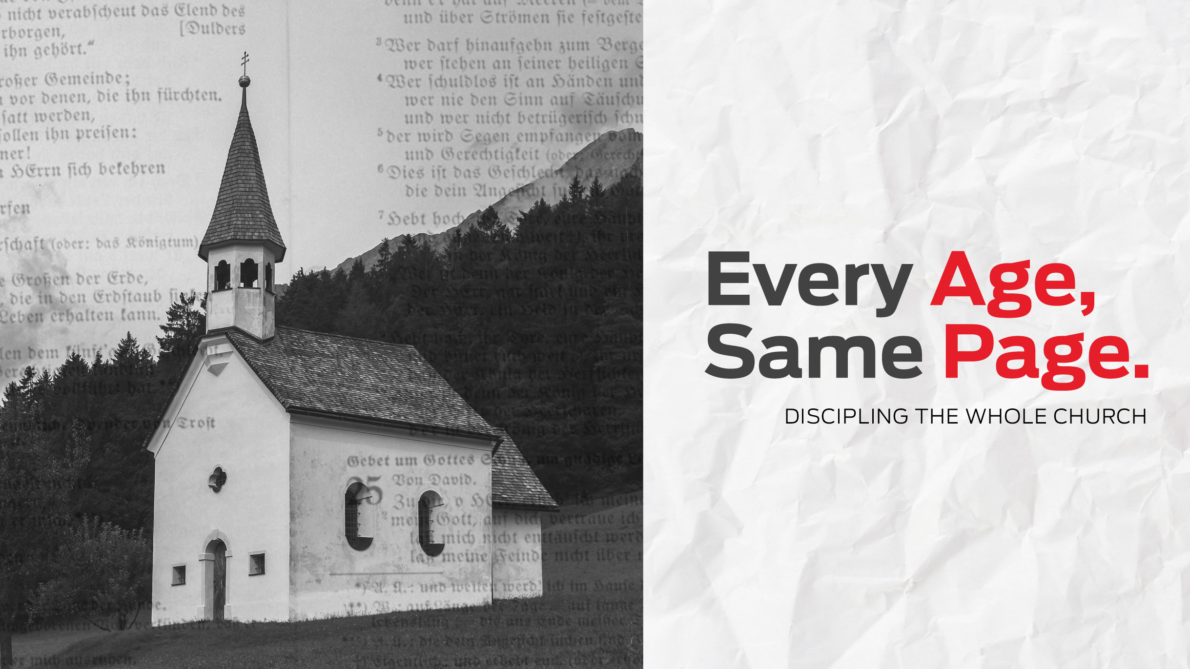 Every Age, Same Page: Discipling the Whole Church