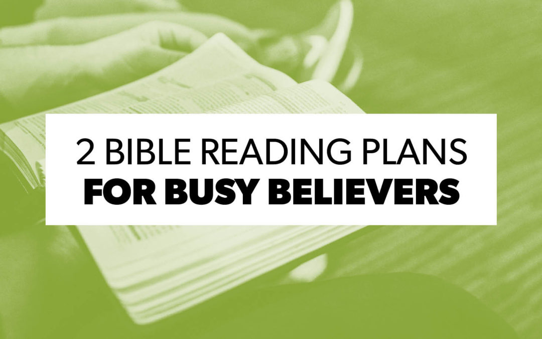 Two Bible Reading Plans for Busy Believers